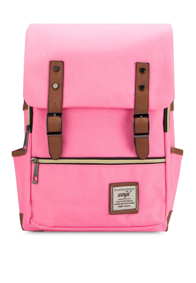 Bagstationz Colour Block Multi-Compartment Travel Backpack