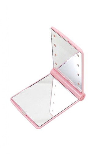 Fashion by Latest Gadget pink Pocket Makeup Mirror with LED Light FA499AC95JPSPH_1