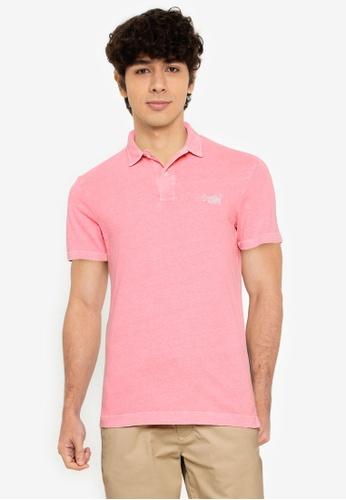 Superdry pink LA Beach Jersey Polo Shirt - Original & Vintage 62491AA67DAD94GS_1