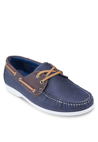 Duo Tonesprit outlet 桃園e Faux Leather Boat Shoes, 鞋, 鞋