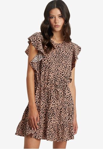 Tussah beige Ivana Mini Dress 27406AA6237DD6GS_1
