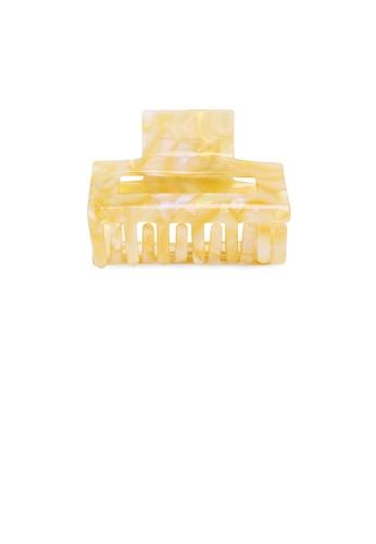 Glamorousky yellow Simple Fashion Yellow Pattern Geometric Hair Claw AE6D6AC2F04DDBGS_1