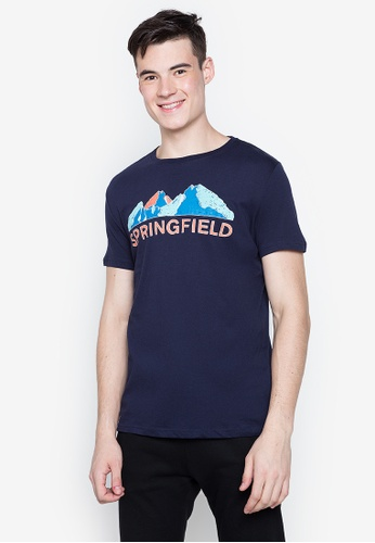 Springfield blue Brand Graphic Mountain Tee 8FB15AAE3C3ADAGS_1