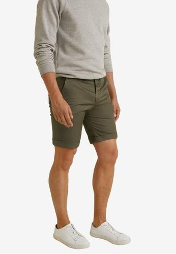 Mango Man 米褐色 Technical Cotton Bermuda Shorts 98E9EAA6019B9EGS_1