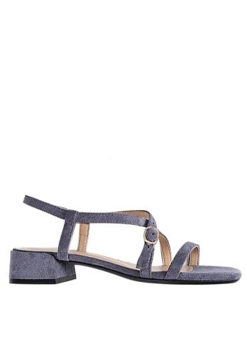 Twenty Eight Shoes 藍色 氣質小踭涼鞋3376-13 A6B7ASHC300E98GS_1