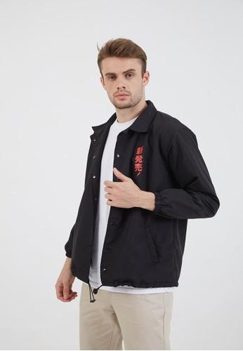 Berrybenka Label black Men Coach Jacket Cola Black 01E32AA67E79BFGS_1