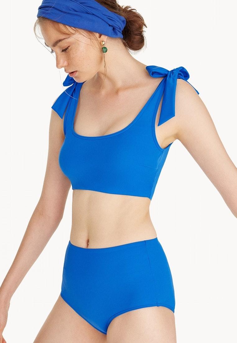 Top Shoulder Blue Tie Electric Bikini Blue Pomelo t7wqvd7