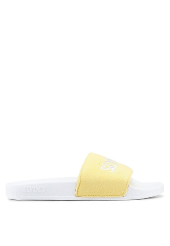 Slydes white and yellow and multi Plya Sandals 10F73SH0AD18DAGS_1
