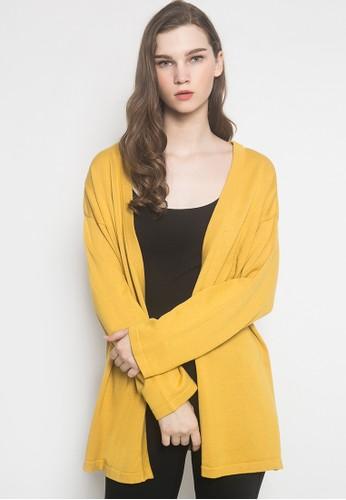 Noir Sur Blanc yellow Ladies Cardigan Over Size 3D807AACF56006GS_1