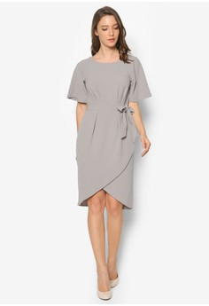 Tie Front Wrap Skirt Dress
