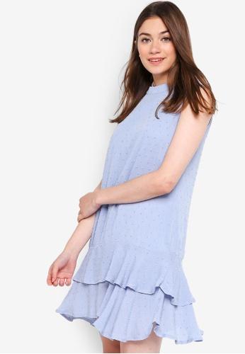 Something Borrowed blue Tiered Drop Waist Dress E033FAAC15F2D9GS_1