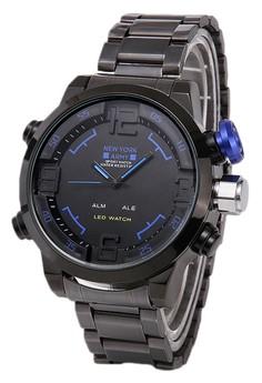 Newyork Army Men's NYA3152 Digital Analog Led Sport Watch