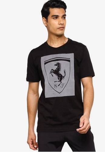 PUMA black Ferrari Big Shield Men's Tee E6470AA7BEC5A7GS_1
