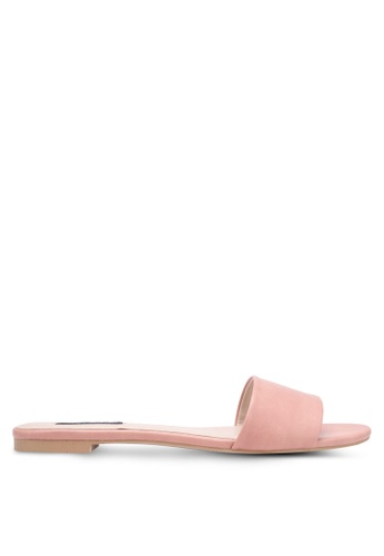 ZALORA pink Single Strap Sliders 9BC74SHA5EEFB6GS_1