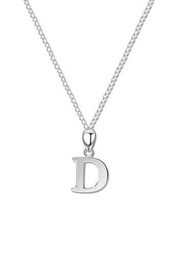 SC Tom Silver silver Letter Pendant with Chain SC872AC0J6H0PH_1