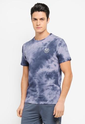 JAXON blue Hawaii Tie Dye Tee AE871AA7B0F32BGS_1