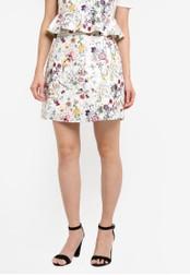 Something Borrowed white Printed Faux Leather Mini Skirt 3DB35ZZ03680A0GS_1