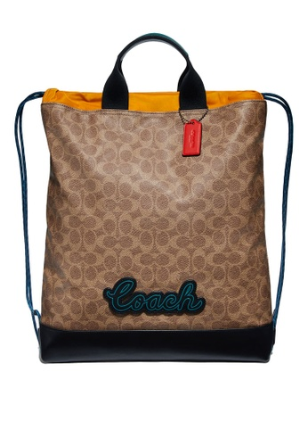 Coach brown Terrain Drawstring Backpack (cv) 8F064AC1FBDD9DGS_1