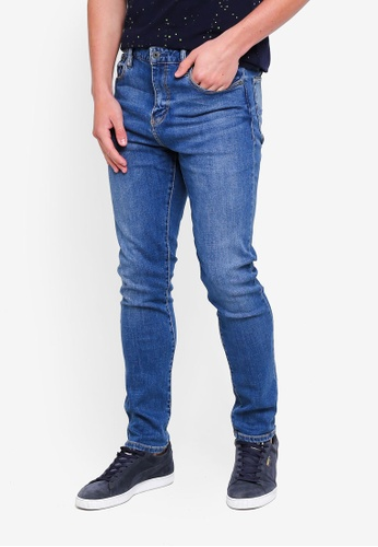 Superdry 藍色 修身牛仔褲 93628AA013E1AAGS_1