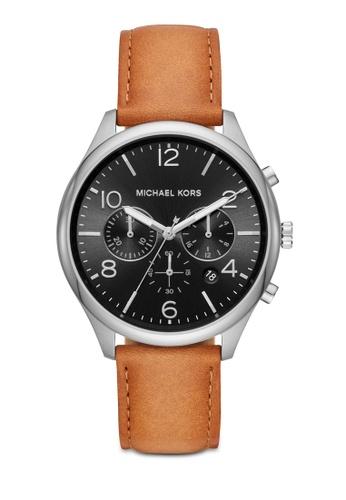 MICHAEL KORS brown Merrick Chronograph Watch MK8661 6252AACEB51A3DGS_1