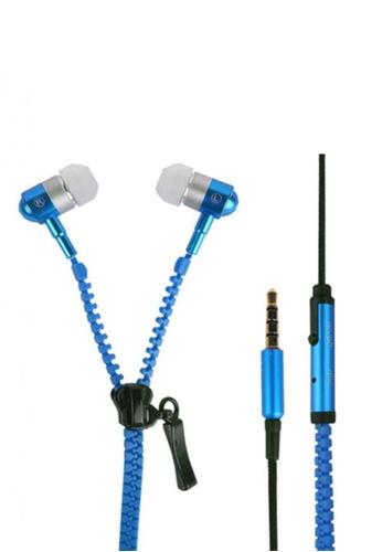 Sound Bytes blue Super Bass Zipper In-Ear Earphones SO127AC90AMRPH_1