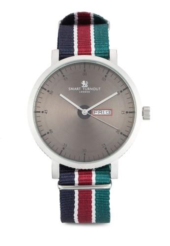 City Army Rugby 條紋布質錶帶esprit 台灣官網不銹鋼手錶, 錶類, 飾品配件