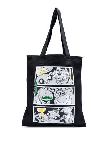 ADIDAS black pixar anime shopper bag 1D64DAC4596EB8GS_1
