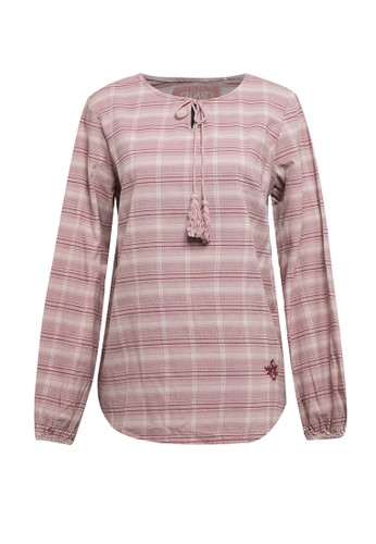 Expand pink Safeya Plaid With Details Of Straps Around The Neck 58DC2AABEA9516GS_1