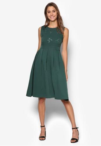 繡花及膝洋裝, 服飾, esprit地址洋裝