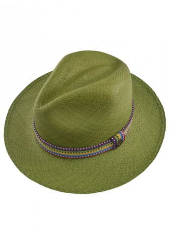 DOSSCAPS green Ecua-Andino Chumbe Olive Panama Hat DO290AC0S2H8MY_1