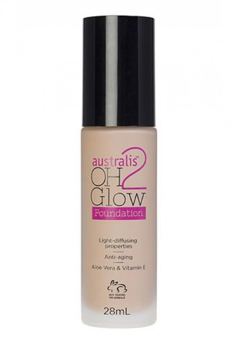 Australis Australis Oh 2 Glow Light Diffusing Foundation – Natural Tan AU782BE09SDQSG_1