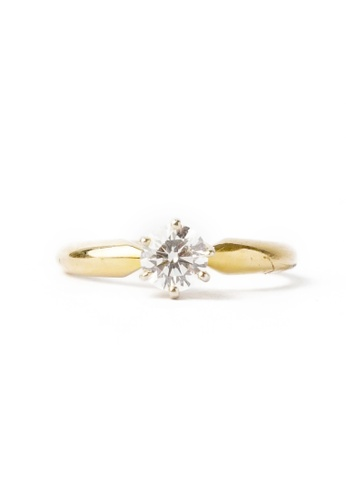 CEBUANA LHUILLIER JEWELRY gold 14K Karat Yellow Gold Lady Ring with Diamond 19D5EAC216DB58GS_1
