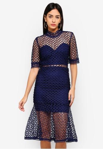 Bardot blue Fiona Mesh Dress 32EFDAA9F439C5GS_1
