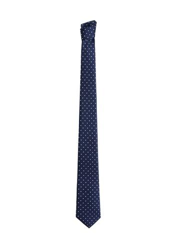 Mango Man blue Jacquard Tie EE371ACD1198F7GS_1