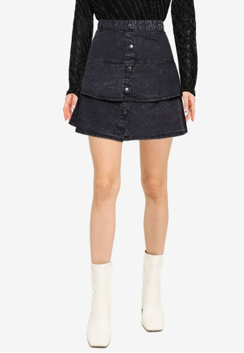 Noisy May black Sandra Short Skirt D3AC1AA35B8247GS_1
