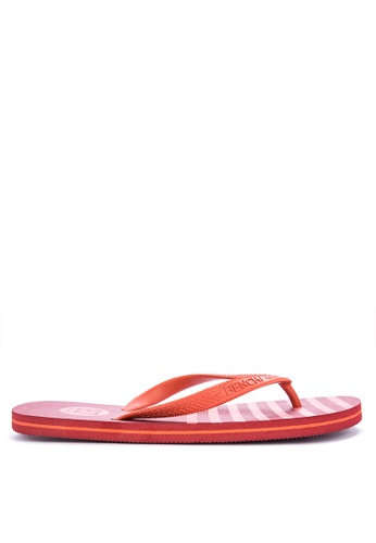 BENCH red Printed Rubber Slippers FC2AASHD3F8A3EGS_1