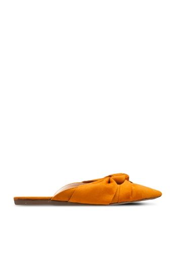 nose yellow Flat Mule With Knot 64DCDSHD1AA99DGS_1