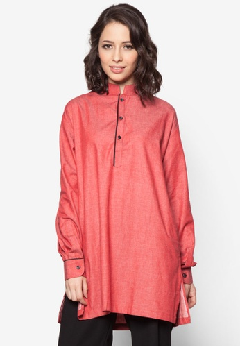 Aqeela Muslimah Wear red Casual Kurta AQ371AA73FNUMY_1