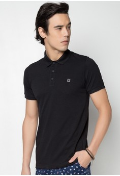 Short Sleeves Men's Polo Tee with Contrast Backyoke and Embro