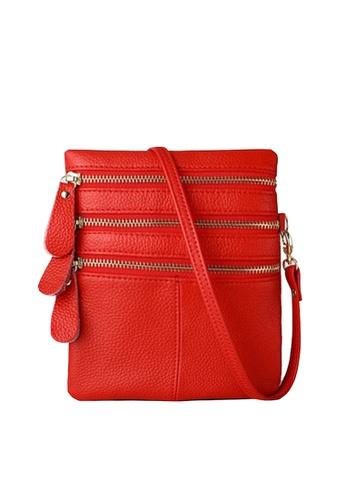 Twenty Eight Shoes red VANSA Pebbled Cow Leather Crossbody Bag VBW-Cb583 3F728AC43464D2GS_1