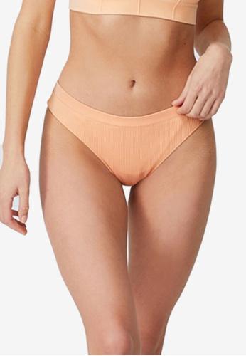 Cotton On Body orange Seamless Brasiliano Briefs BC8D6USD0BE6CDGS_1