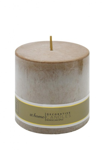 At Home brown Moroccan Spice Scented Pillar Candle 3x3 43290HLEB8B579GS_1