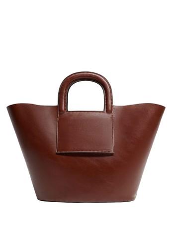 Mango brown Top Handles Shopper Bag E79A9AC27BEF8AGS_1