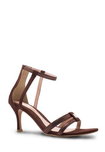 Sepatu Wanita Mid Heel Mahogany