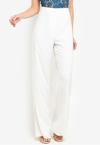 MISSGUIDED white Wide Leg Smart Trousers 99D00AA3493E7FGS_1
