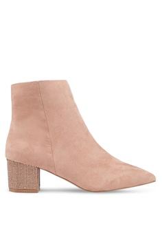 79536b2166af Miss Selfridge pink Alesha Diamond Heel Boots 724AESH1922731GS 1