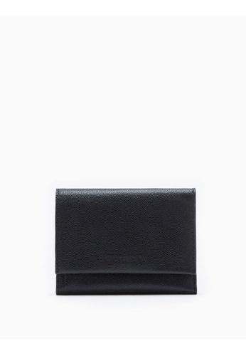 Calvin Klein black Compact Flap Wallet 38204ACC530B48GS_1