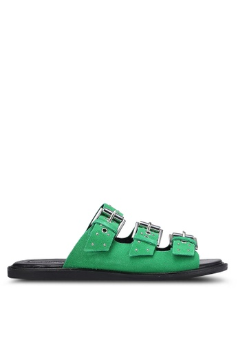 TOPSHOP green Famous Studded Sandals TO412SH0RFTPMY_1
