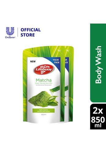 Lifebuoy Lifebuoy Matcha Green Tea Shower Gel Refill 850 ml x 2 780A5ESEC5362EGS_1