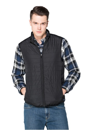 Chaps black Chaps Packable Quilted Vest CH325AA0S9JGMY_1